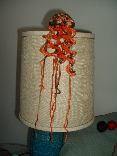 Crazy Colored Crocheted Jellyfish