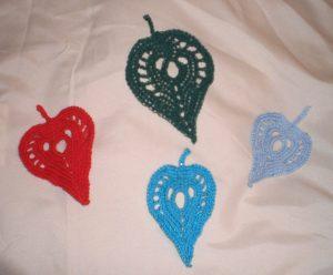 Arrowhead Leaf Examples - free crochet pattern